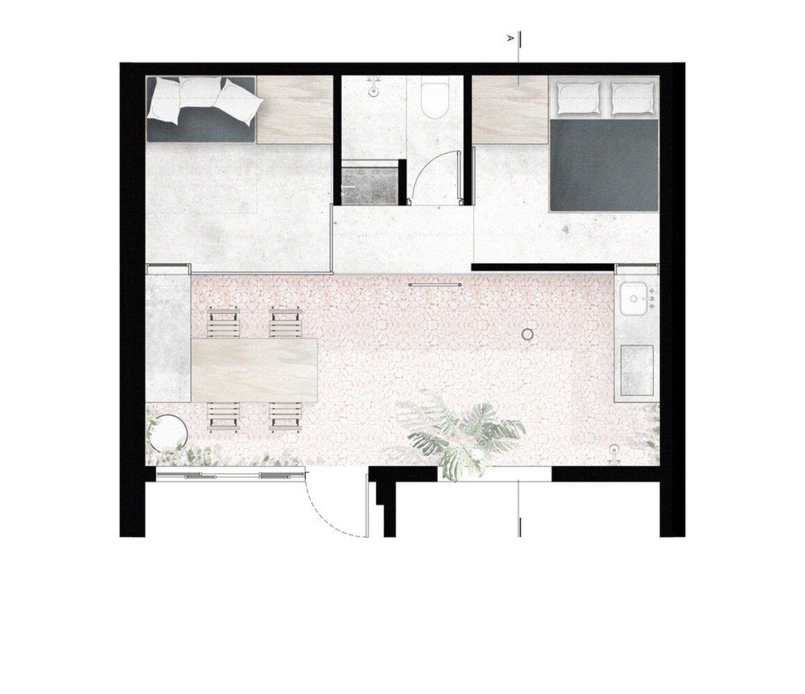 Puxadinho VAGA Brasil Floor Plan Humble Homes