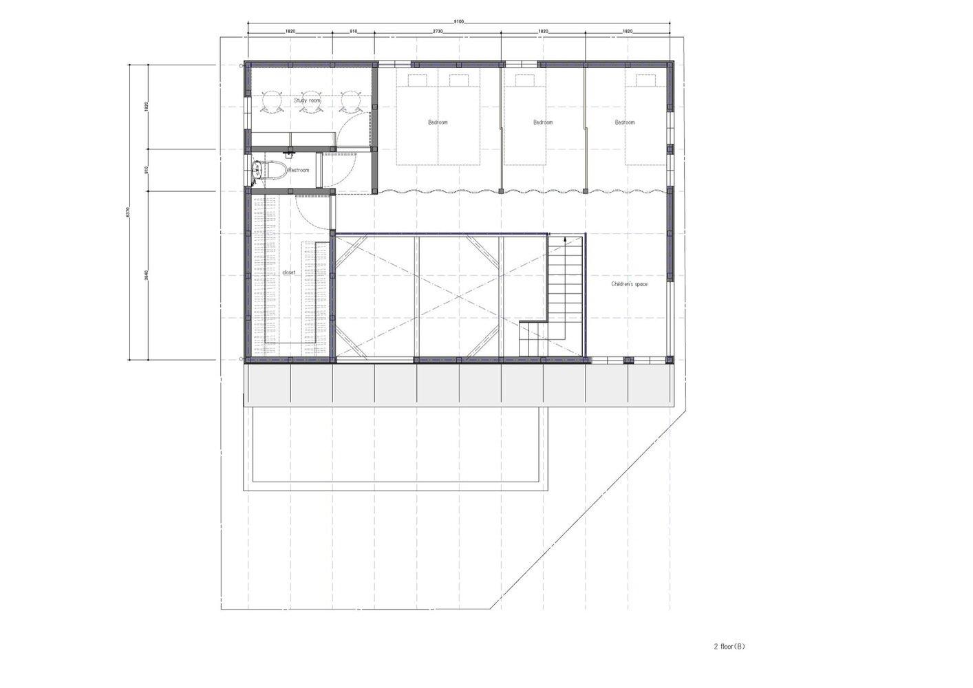 S-House - Coil Kazuteru Matumura Architects - Japan - Floor Plan 2 - Humble Homes