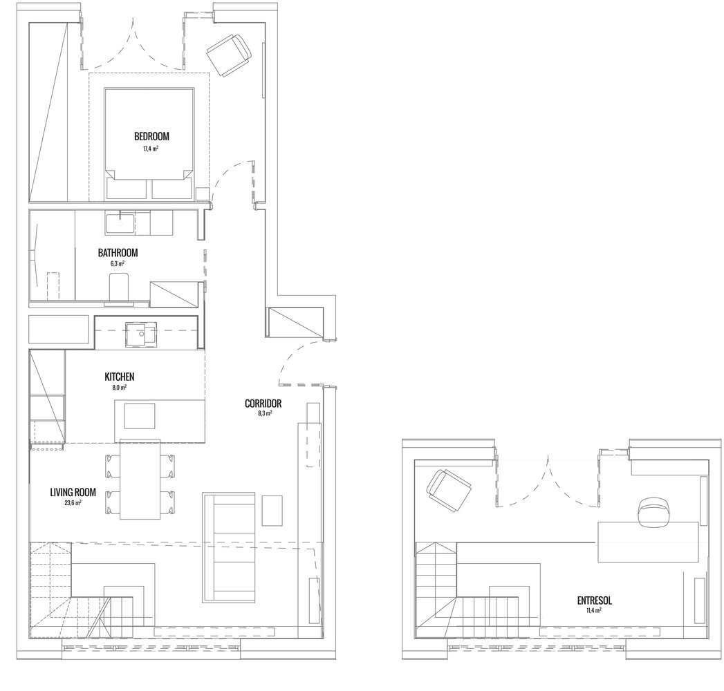 Apartment For A Guy And Even Two Of Them Metaforma Poland Floor Plan Humble Homes