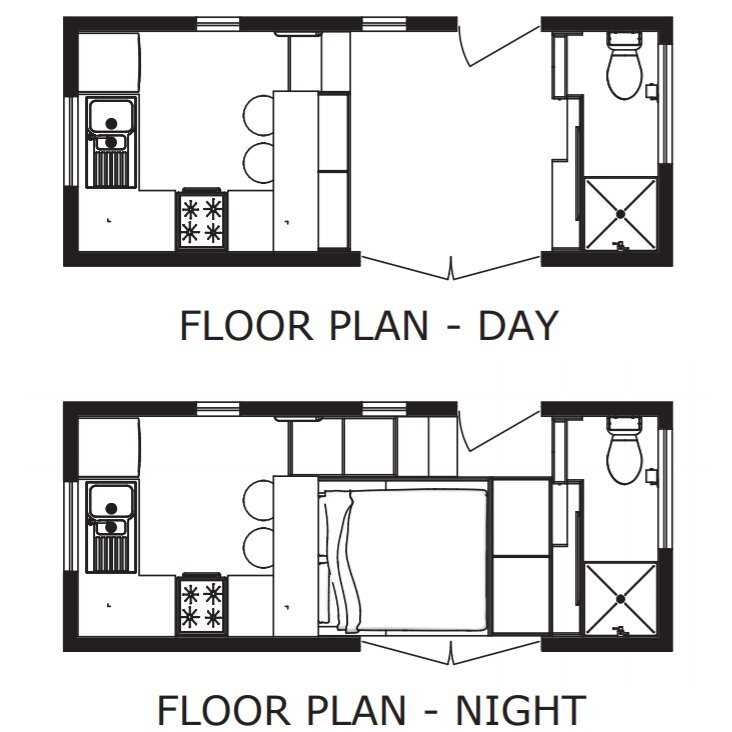 Athru Tiny House Plans - Floor Plans