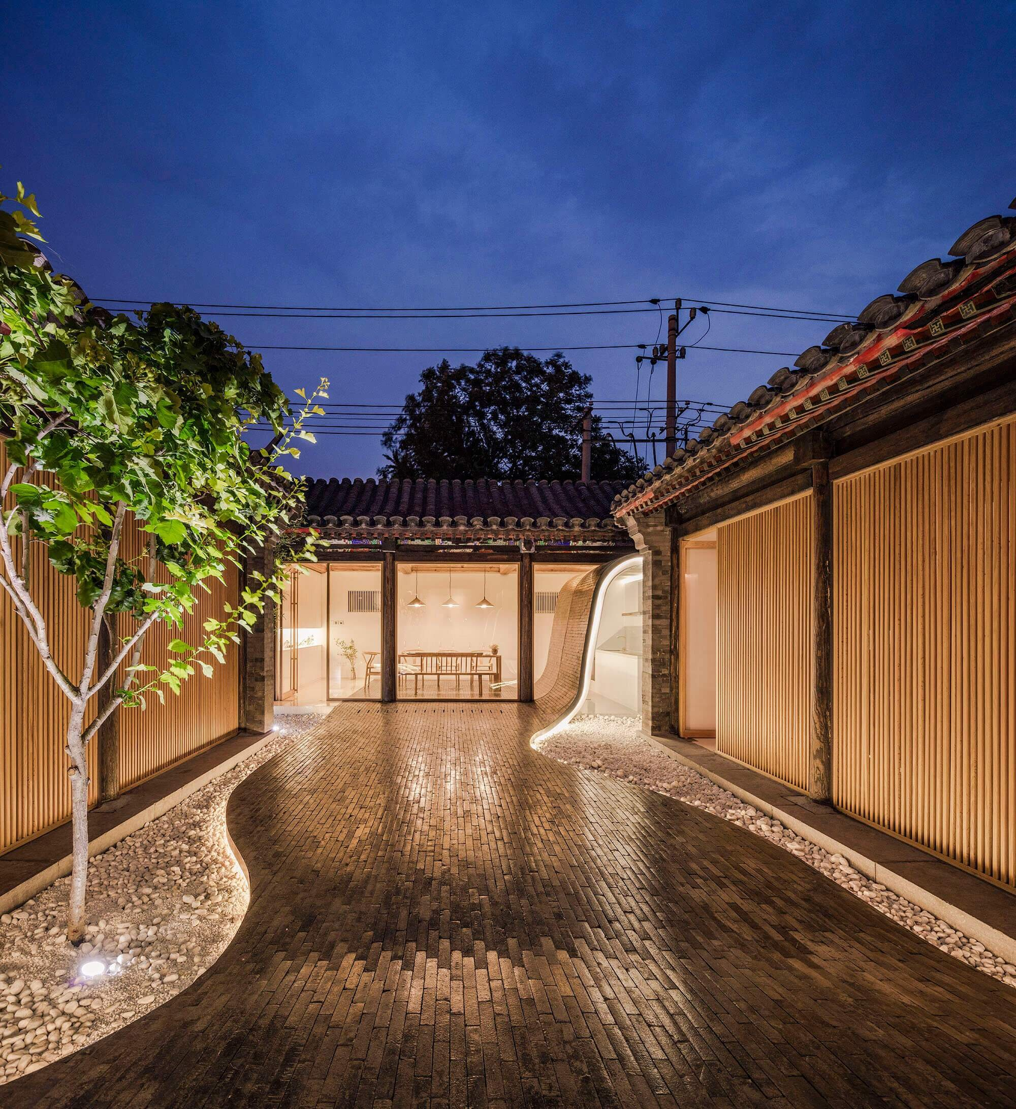 Beijing Courtyard Home By Archstudio Balances Modern And