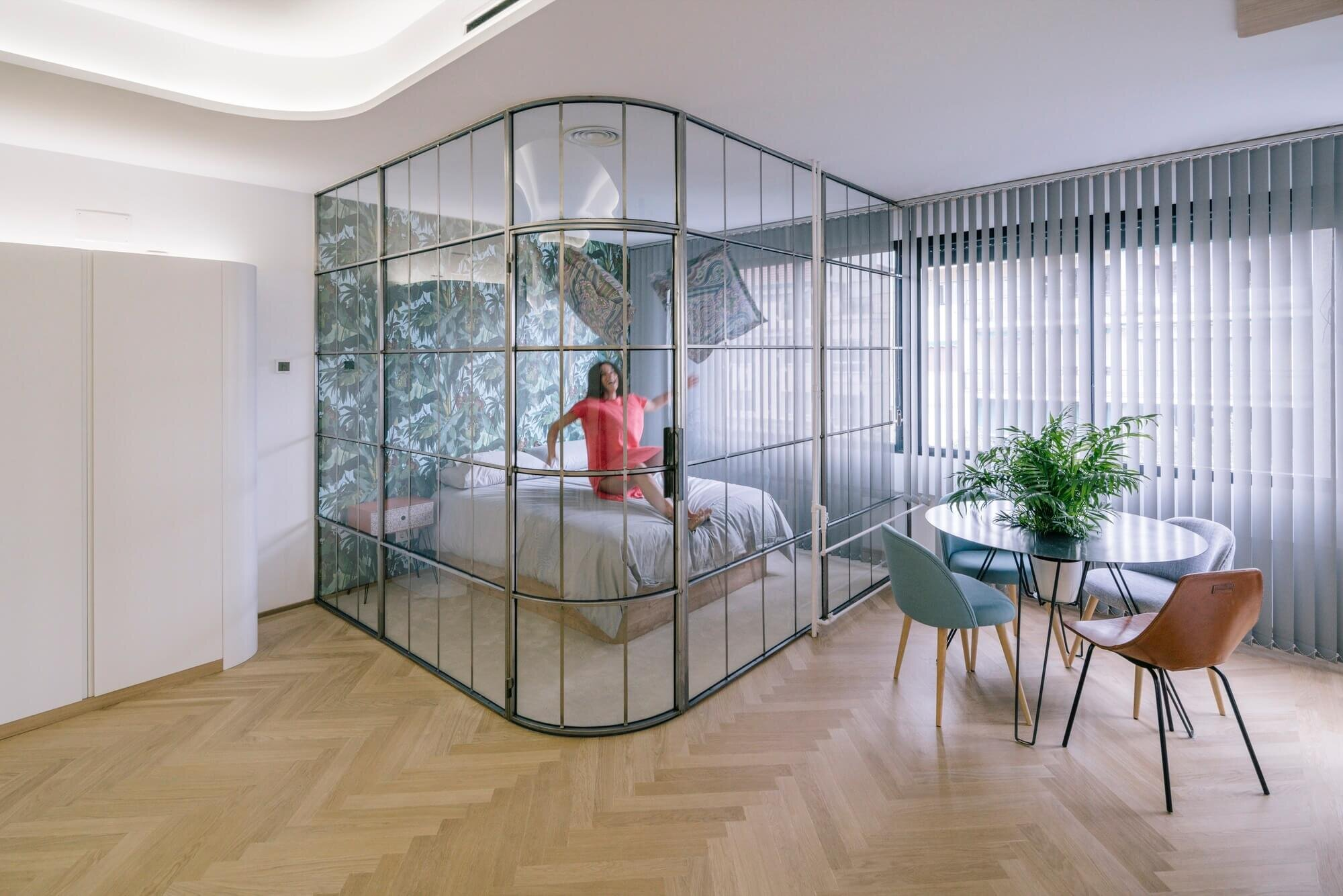 Which Takes Inspiration From Boats In Order To Make The Most Of A Small Studio Apartment Or This French Artists Work Transformation An Old Home