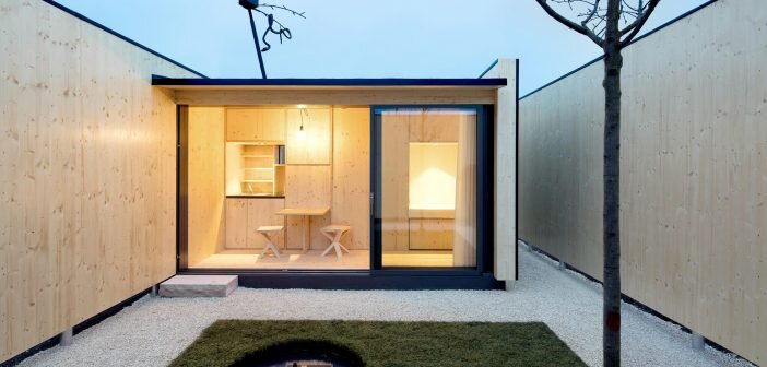Micro Courtyard House a 75SquareFoot Tiny House Built on a