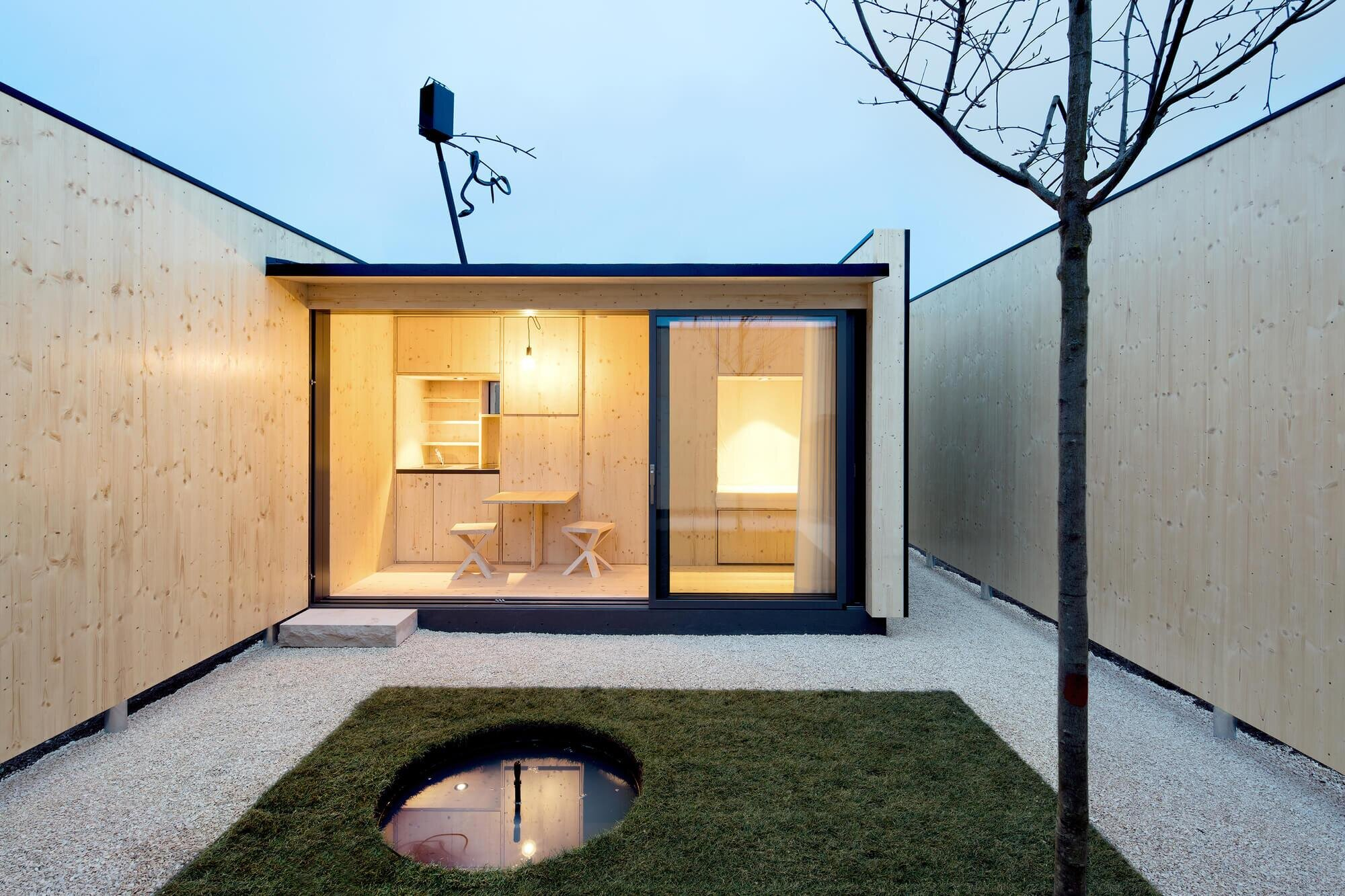 Micro Courtyard House A 75 Square Foot Tiny House Built On A Traffic Island In Germany