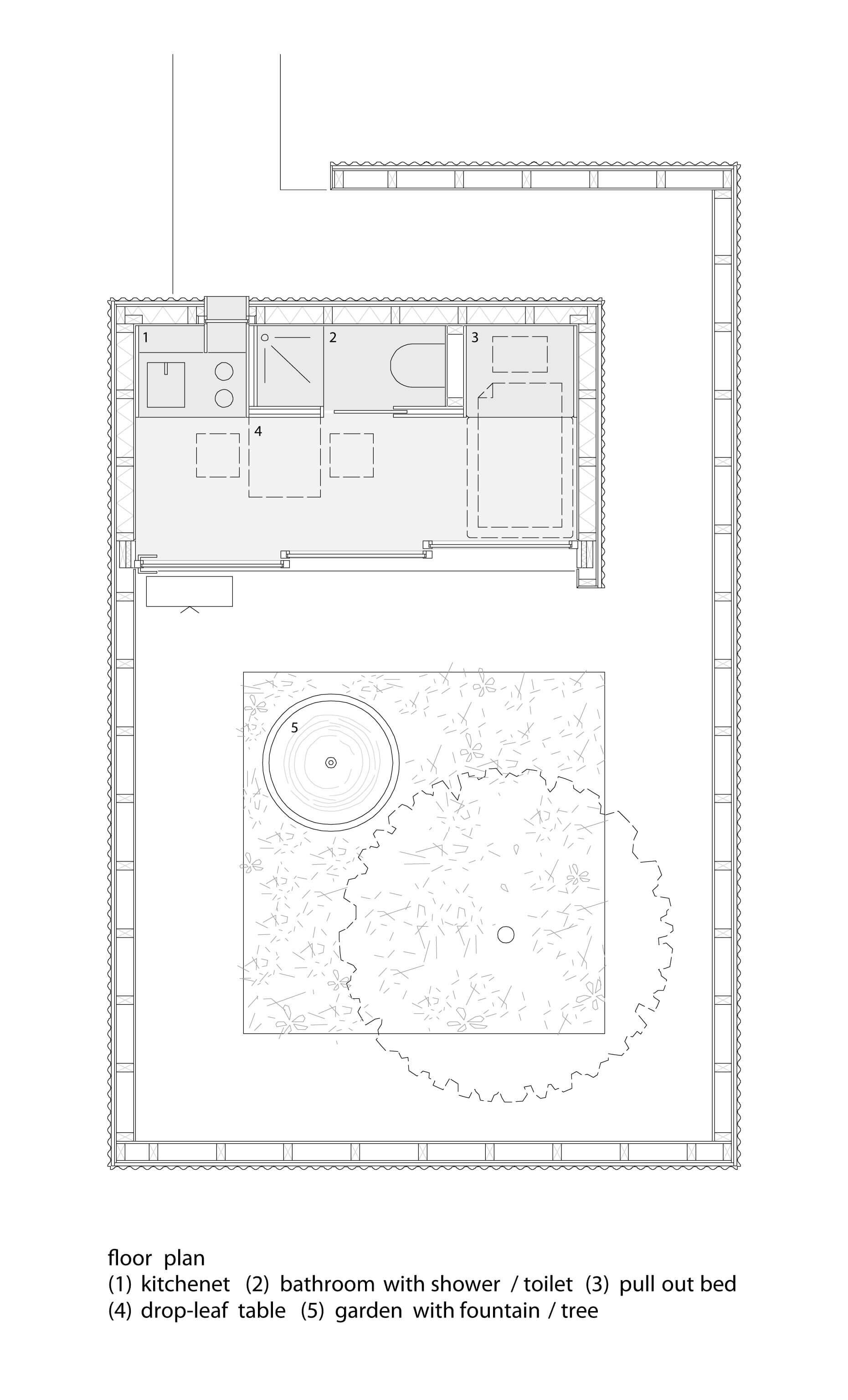 Micro Courtyard House - a 75-Square-Foot Tiny House Built on ... on open courtyard house plans, hospitality floor plans, courtyard home elevations, mediterranean courtyard house plans, bed & breakfast floor plans, interior courtyard house plans, walled courtyard house plans, small courtyard house plans, modern courtyard house plans, center courtyard house plans, hotel floor plans, pool courtyard floor plans, courtyard home designs, courtyard house plans for homes, courtyard home plans guest quarters, courtyard home interiors, enclosed courtyard floor plans, courtyard flooring, courtyard building plans,