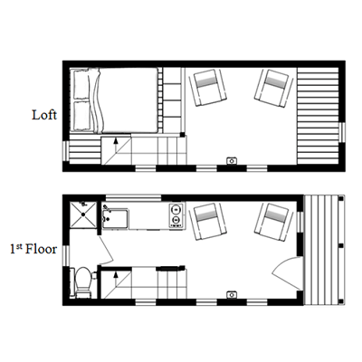 small home floor plans with loft the mcg loft a tiny house with a staircase humble homes 7143