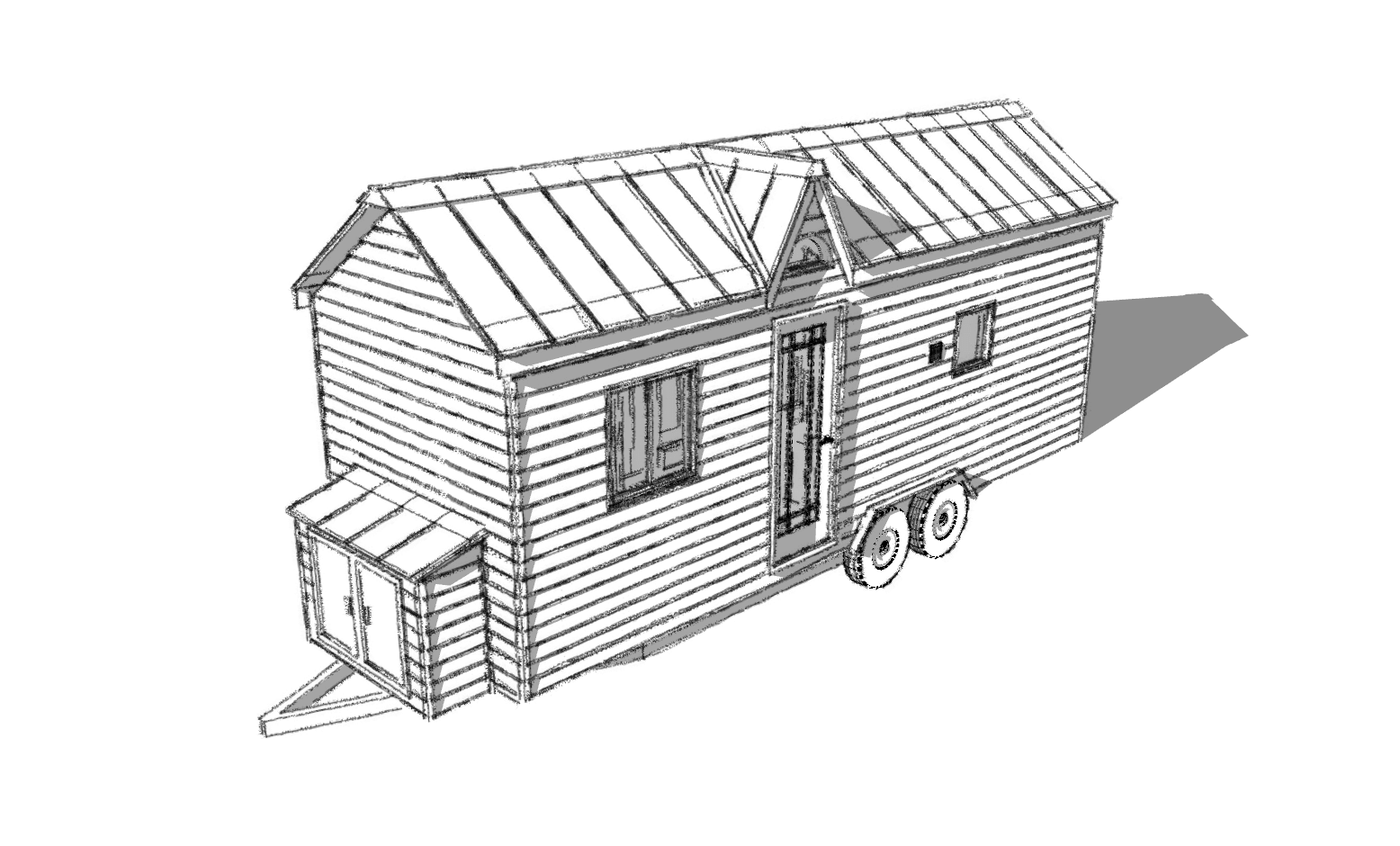 The Turtle Tiny House A With Bedroom Humble Homes Trailer Home Schematics Plans